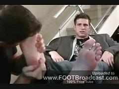 Foot licking