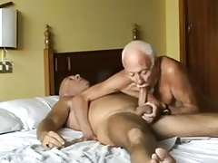 Old mature grandpa sucking old mature grandpa