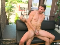 Kris Jamieson enjoys sex in cowboy position with his gay BF