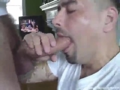 Super Sexy Guy Kneels For an Amazing Blowjob