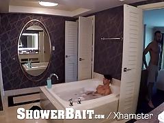 ShowerBait Str8 bait shower fuck with Casey Everett