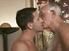 Hot mature guy with silver fox in hotel