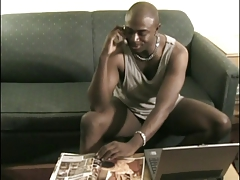 Sexy black male sucks and fucks cock