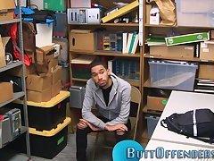 Ebony thief blows load