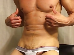 Jockstrap hardon bulge rub