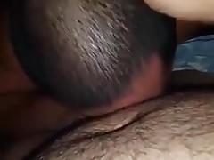 Chinese bears suck and fuck bareback with creampie