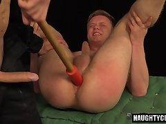 Tattoo gay spanking and cumshot