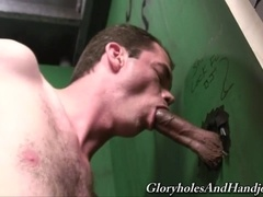 Gay skank Tipper Skye shows his blowjob skills in hot gloryhole action