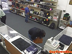 Pawnshop thief assfucked until facialized