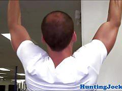 Fitness twunk assfucked in gym locker room