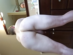 Bubble Butt Fag in Bathroom
