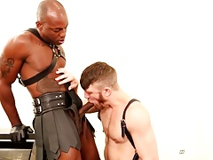 NextDoorEbony Redhead Bends Over for Big Black Dick