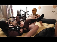 Fucking, pissing on and fisting Crossdresser Slave Part 3