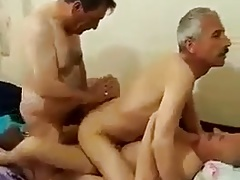 Turkish daddies group sex
