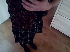 I in skirt and pantyhose. Ja v suknicke a silonkach.