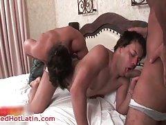 Hot gay latin threesome
