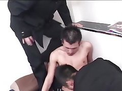 Lewd Asian Threeway Ass Fucking