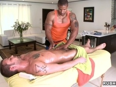 Robert Axel gives massage to Andras Styles and rides his dick