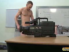 Sucking a big cock and anal fucked discipline for gay caught snooping