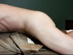 Pillow fuck hump cum