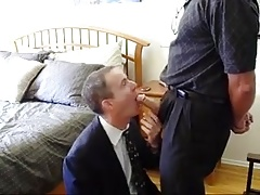 business man suck his boss