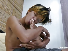 Asian Boy Clark Foot Fetish Jerk Off
