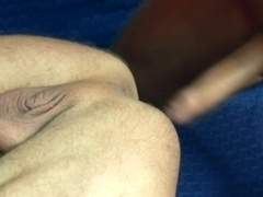 A twink gets fucked from behind after giving a fervent blowjob