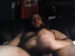 Amazing big bear stroking