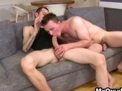 Dudes feel utterly horny suck cock and furthermore have bareback sex