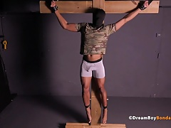 Timarrie Baker Hung Army Stud Crucified BDSM Gay Bondage