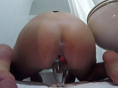 bouncing cock on bottle