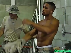 Military muscle hunks drilling ass in orgy