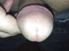 Cumming, front view in jeans