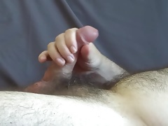 Cumshot on the couch