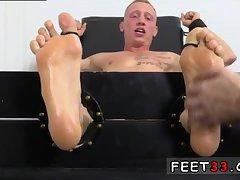 Nasty guy gets feet worshiped