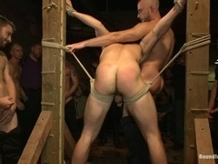 Lustful fairy gets his butt brutally pounded by his buddies