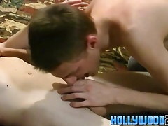 Horny Tyler and naughty Taylor bareback and doggystyle sex