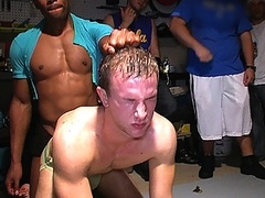 Oiled up Frat Candidates Wrestle to Get Accepted