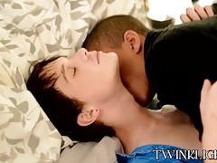 Interracial vamp hotel sex with big dick Wily and cute Mark