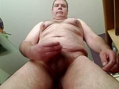 older gay chubby masturbating