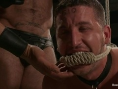Spencer Reed and Van Darkholme enjoy torturing two fags in BDSM video