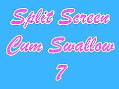 Split Screen Cum Swallow 7