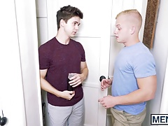Young studs Leo and Will play with fleshlight before sex