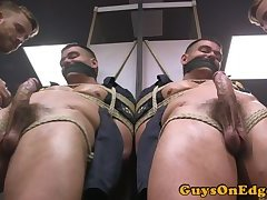 Police stud edged and dominated in public