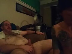 Daddy bear gets a blowjob