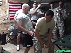 Uniformed military party hunks orgy fucking