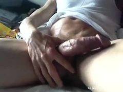 Stroking My Fat Cock For You Guys