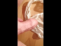 Dirty panty cum