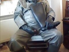 NBC rubber suit wank