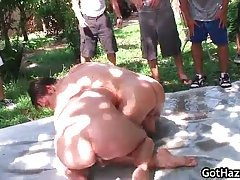 Outdoor group gay hazing